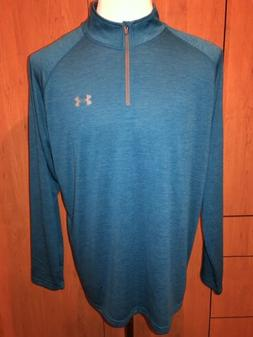 Under Armour UA Heat Gear Mens Long Sleeve 1/4 Zip Loose Shi