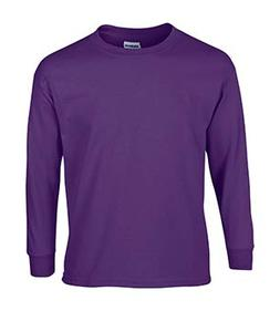 Gildan Ultra Cotton Youth 6 Oz. Long-Sleeve T-Shirt, XL, Pur