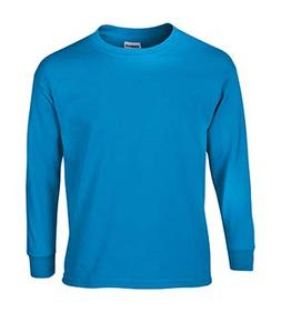 Gildan Ultra Cotton Youth Long-Sleeve T-Shirt, Sapphire, Lar