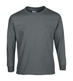 Gildan Ultra Cotton Youth Long-Sleeve T-Shirt, Chrcl, X-Larg