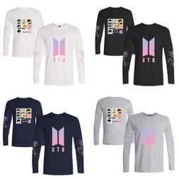 US KPOP BTS Bangtan Boys Long Sleeve Cotton Tops Loose T-shi