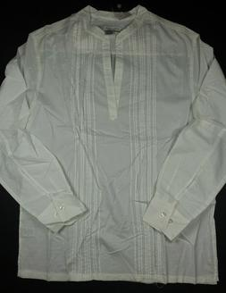 INTERNATIONAL MALE White Lightweight Long Sleeve Tunic V-Nec