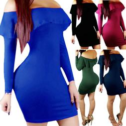 Women Bandage Bodycon Long Sleeve Evening Party Cocktail Min