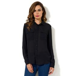 Women Fashion Long Sleeve Chiffon Button Blouse Shirt Ladies