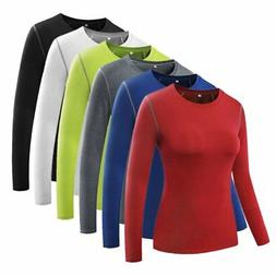 Women's Compression Long Sleeve Yoga Tight Tops Lady Gym Wor