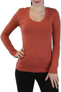 ToBeInStyle Women's Essential Long Sleeve Scoopneck T-Shirt