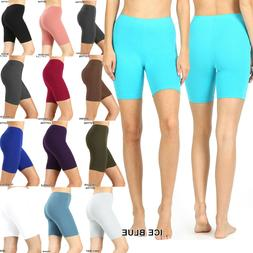 Women's Fitness Bike Shorts Soft Stretch Leggings Cotton Spa