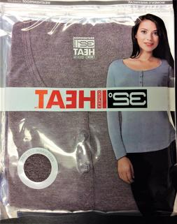 32 Degrees Women's Heat Base Layer Long Sleeve Henley Tee To
