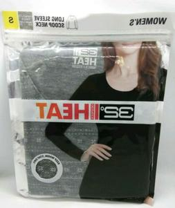 Women's 32 Degrees Heat Small Gray Thermal Base Scoop Neck S