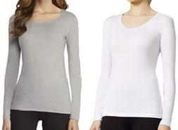 Women's 32 Degrees Heat Thermal Base Scoop Neck Shirt Long S