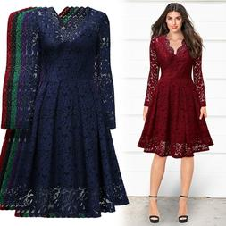 Women's Long Sleeve Lace Dress For Formal, Cocktail and Even