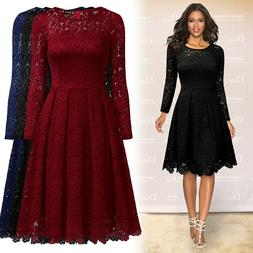 Women's Long Sleeve Lace Dress for Homecoming and Semi Forma