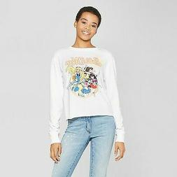 Women's Long Sleeve Sailor Moon Graphic T-Shirt  - White S