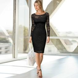 Women's Long Sleeve Vintage Lace Bodycon Dress, For Prom, Fo
