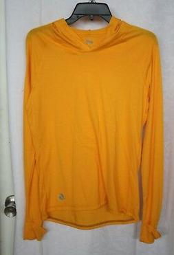 Women's Soffe yellow long sleeve hoodie shirt size large
