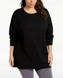 Soffe Womens Curves Plus Size Long Sleeve T Shirt Size 1X Bl