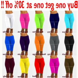 Womens Leggings Stretch Biker Shorts Workout Nylon Yoga Pant