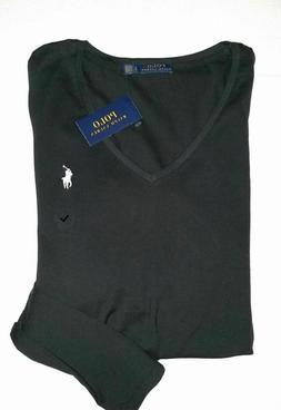 Polo RALPH LAUREN Womens Long Sleeve t shirt Fitted Stretchy