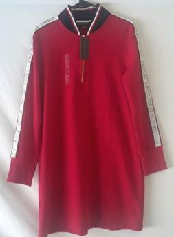 Tommy Hilfiger Womens Red Polo Long Sleeve Large Dress Quart