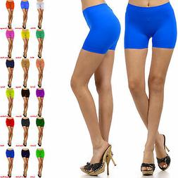 Womens Stretch Casual Shorts Biker Exercise Yoga Workout Siz