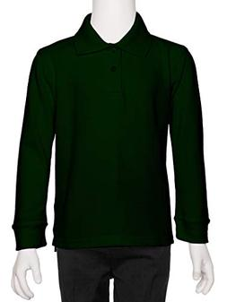 AKA Boys Wrinkle Free Polo Shirt Long Sleeve - Pique Chambra