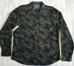 "Calvin Klein XL long sleeve shirt "" Camouflage - Black,Green"